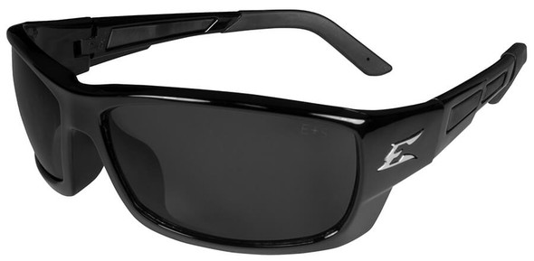 Edge Mazeno Slim Fit Safety Glasses with Black Frame and Smoke Lens