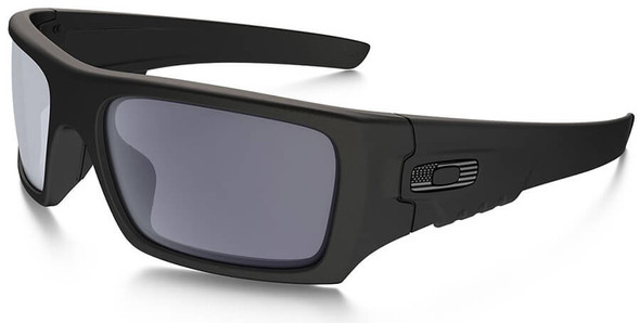 Oakley SI Ballistic Det Cord Sunglasses with Matte Black Tonal Flag Frame and Grey Lens