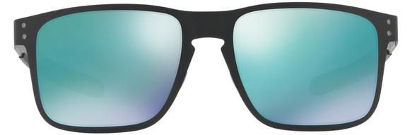 Oakley Holbrook Metal Sunglasses with Matte Black Frame and Jade Iridium Lens - Front