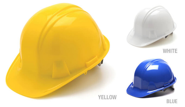Pyramex Cap Style Hard Hat with 4-Point Snap Lock Suspension