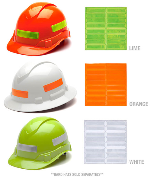 Pyramex Adhesive Reflective Strips for Hard Hats