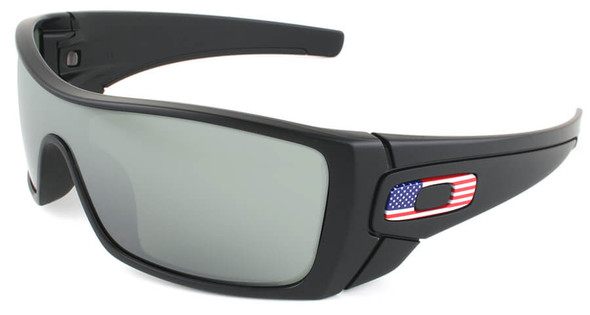 Oakley SI Batwolf with Matte Black USA Flag Frame and Prizm Black Lens