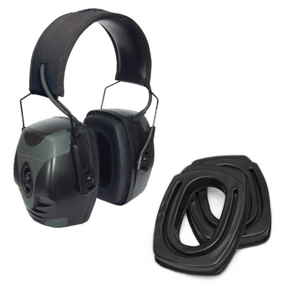 SightLines Ear Cushions & Howard Leight Impact Pro Earmuff Bundle