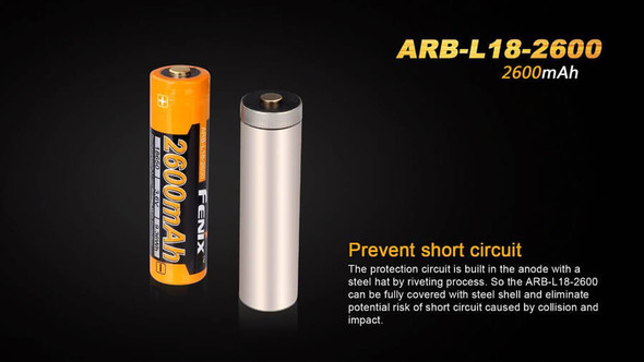 Fenix ARB-L18-2600 High-Capacity 18650 Battery