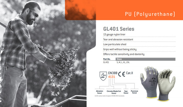 Pyramex GL401 Series Poly-Torq Gloves Info