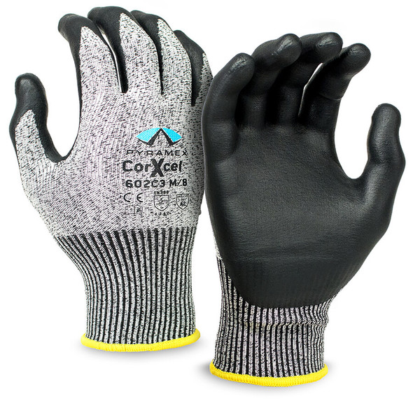 Pyramex CorXcel GL602C3 Series Cut-Resistant Micro-Foam Nitrile Gloves