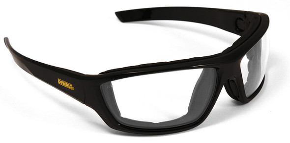 DeWalt Converter Safety Glasses/Goggles with Black Frame and Clear Anti-Fog Lens