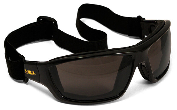 DeWalt Converter Safety Glasses/Goggles with Black Frame and Clear Anti-Fog Lens - With Goggle Strap DPG83-21