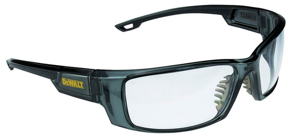 DeWalt Excavator Safety Glasses with Crystal Black Frame and Clear Lens