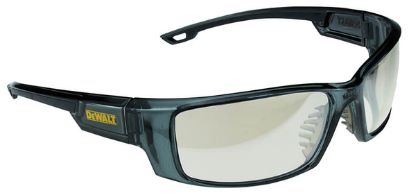DeWalt Excavator Safety Glasses with Crystal Black Frame and Indoor-Outdoor Lens