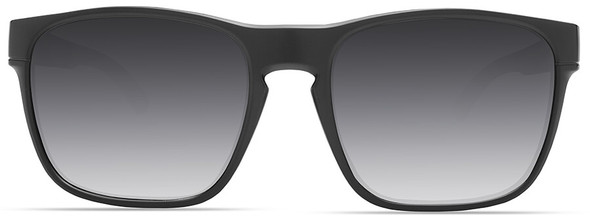 Under Armour Glimpse Sunglasses with Satin Black Frame and Gray Gradient Lens - Front
