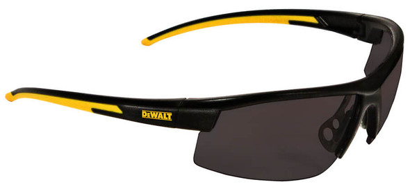 DeWalt HDP Safety Glasses with Black Frame and Polarized Smoke Lens