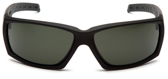Venture Gear Overwatch Tactical Safety Sunglasses with Black Frame and Smoke Green Anti-Fog Lens - Front