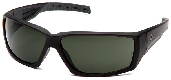 Venture Gear Overwatch Tactical Safety Sunglasses with Black Frame and Smoke Green Anti-Fog Lens