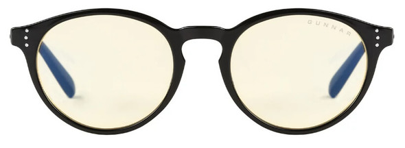 Gunnar Attache Computer Glasses with Onyx Frame and Amber Lens - Front