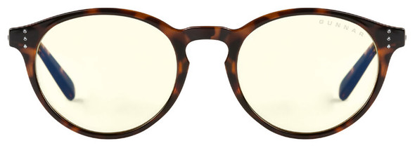 Gunnar Attache Computer Glasses with Tortoise Frame and Amber Lens - Front