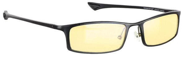 Gunnar Phenom Computer Reading Glasses with Onyx Frame and Amber Lens