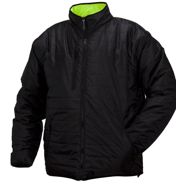 Pyramex RJR33 Reversible Class 3 Hi-Viz Lime 4-In-1 Safety Jacket - Black
