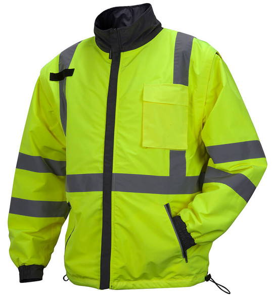Pyramex RJR34 Reversible Class 3 Hi-Viz Lime 4-In-1 Safety Jacket