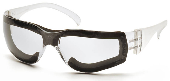 Pyramex Intruder Foam-Padded Safety Glasses with Clear Anti-Fog Lens