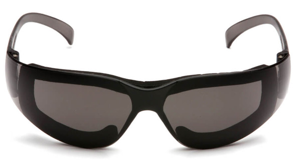 Pyramex Intruder Foam-Padded Safety Glasses with Gray Anti-Fog Lens - Front