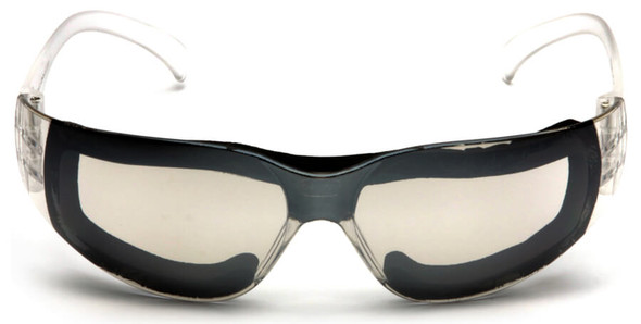 Pyramex Intruder Foam-Padded Safety Glasses with Indoor-Outdoor Anti-Fog Lens - Front