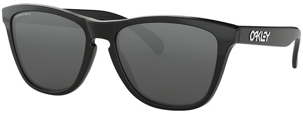 Oakley Frogskins Sunglasses with Polished Black Frame and Prizm Black Lens