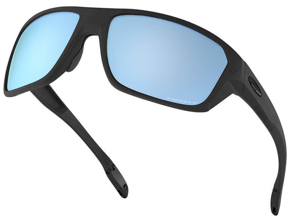 Oakley SI Split Shot Sunglasses with Matte Black Frame and Prizm Deep Water Polarized Lens - Angle