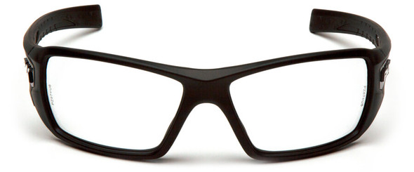 Pyramex Velar Safety Glasses with Black Frame and Clear Lens - Front
