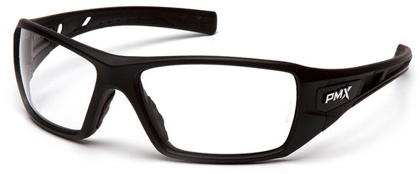 Pyramex Velar Safety Glasses with Black Frame and Clear Lens SB10410D