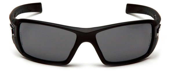 Pyramex Velar Safety Glasses with Black Frame and Gray Lens - Front