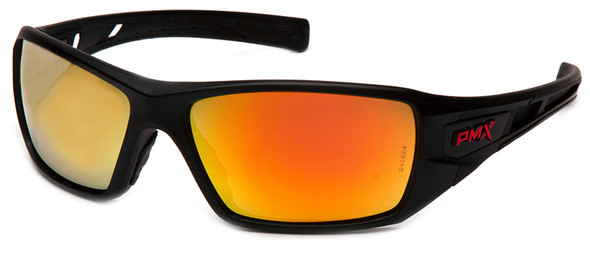 Pyramex Velar Safety Glasses with Black Frame and Ice Orange Mirror Lens SBRF10445D