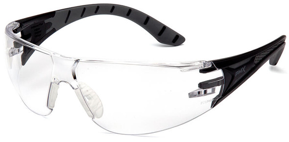 Pyramex Endeavor Plus Safety Glasses with Black/Gray Temples and Clear Lens