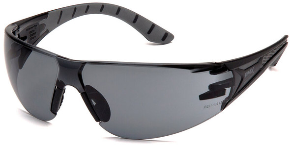 Pyramex Endeavor Plus Safety Glasses with Black/Gray Temples and Gray Lens