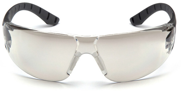 Pyramex Endeavor Plus Safety Glasses with Black/Gray Temples and Indoor-Outdoor Lens - Front