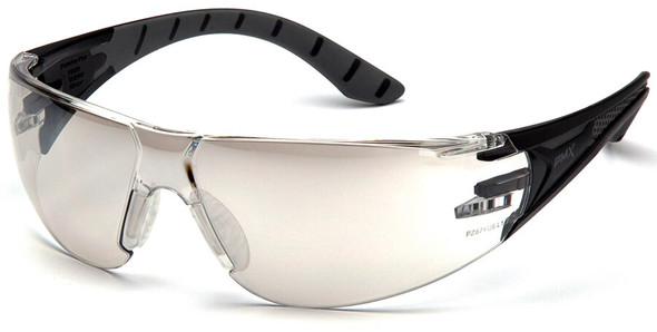 Pyramex Endeavor Plus Safety Glasses with Black/Gray Temples and Indoor-Outdoor Lens