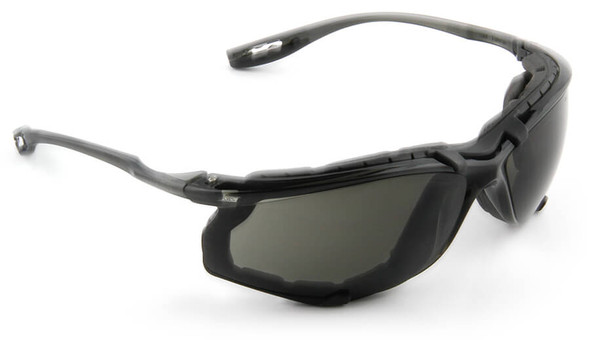 3M Virtua CCS Safety Glasses with Blue Temples Foam Gasket and Gray Anti-Fog Lens