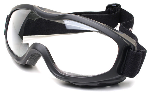 Guard Dogs Evader 2 Safety Goggles with Matte Black Frame and Clear Anti-Fog Lens