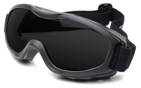 Guard Dogs Evader 2 Safety Goggles with Matte Black Frame and Smoke AF Lens