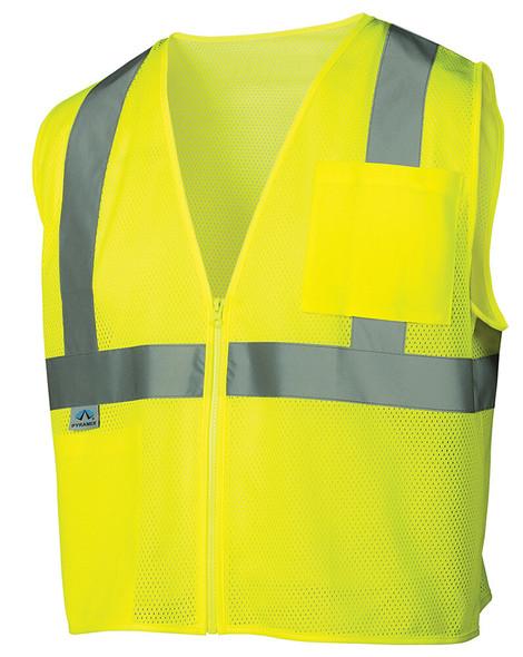Pyramex RVZ21 Hi-Viz Safety Vest, Lime Front