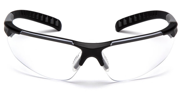 Pyramex Sitecore SBG10110DTM Safety Glasses with Black Frame and Clear Lens - Front