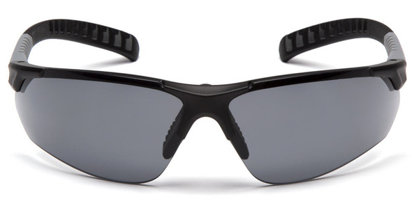 Pyramex Sitecore Safety Glasses with Black Frame and Gray Lens - Front