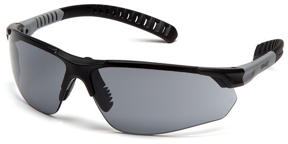 Pyramex Sitecore Safety Glasses with Black Frame and Gray H2MAX Anti-Fog Lens