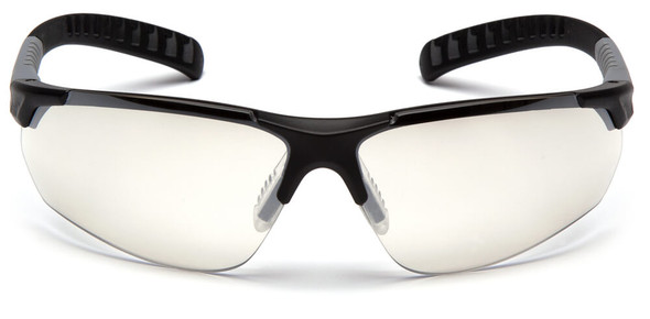 Pyramex Sitecore Safety Glasses with Black Frame and Indoor-Outdoor Lens - Front