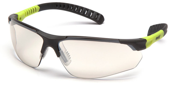 Pyramex Sitecore Safety Glasses with Gray/Lime Frame and Indoor-Outdoor Lens