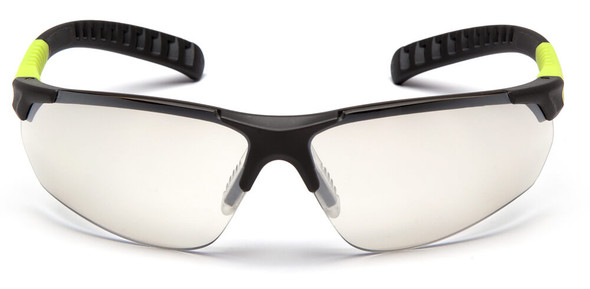 Pyramex Sitecore Safety Glasses with Gray/Lime Frame and Indoor-Outdoor Lens - Front