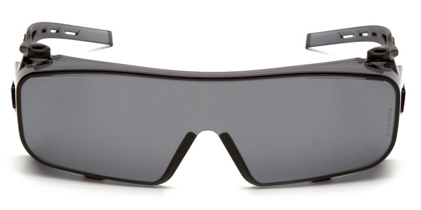 Pyramex Cappture Safety Glasses with H2MAX Gray Anti-Fog Lens - Front