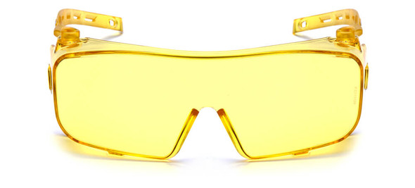 Pyramex Cappture Safety Glasses with H2MAX Amber Anti-Fog Lens - Front