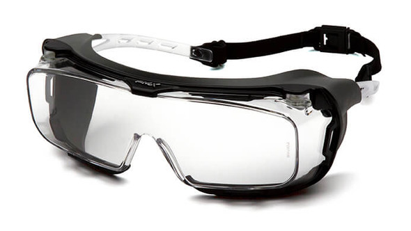 Pyramex Cappture Safety Glasses with Gasket and H2X Clear Anti-Fog Lens