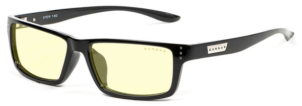 Gunnar Riot Computer Glasses with Onyx Frame and Amber Lens